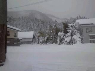 雪掘り完了