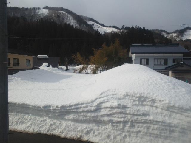 落雪、危険!
