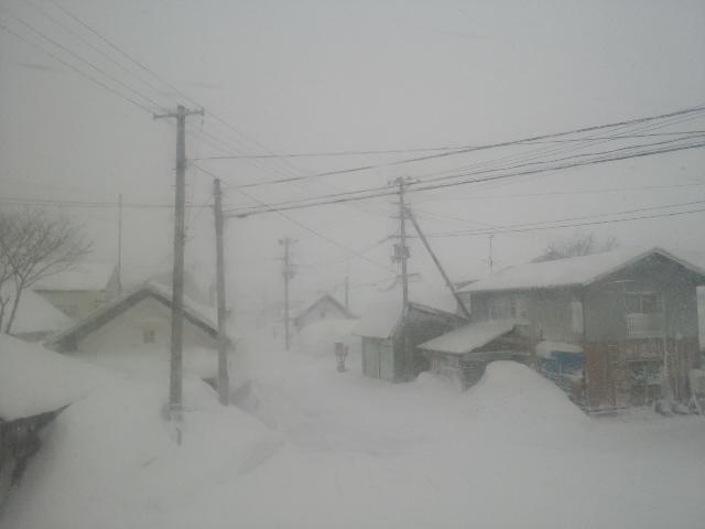 爆弾低気圧再び、そして吹雪