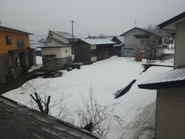 雪、最後?
