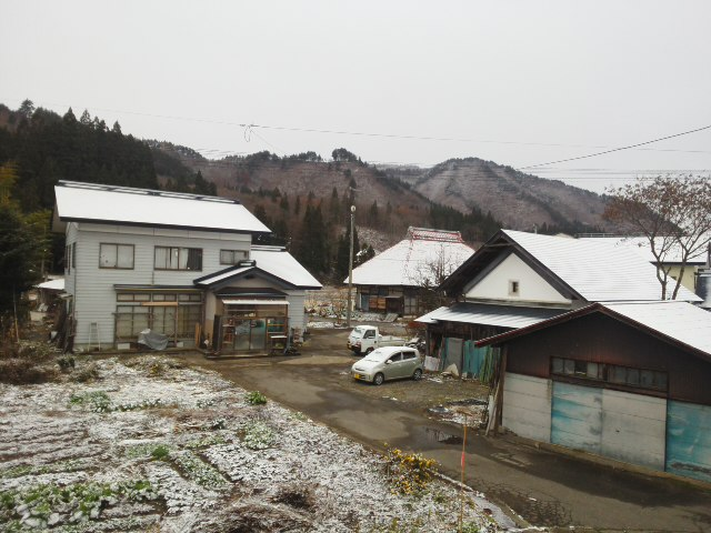 雪化粧&地震
