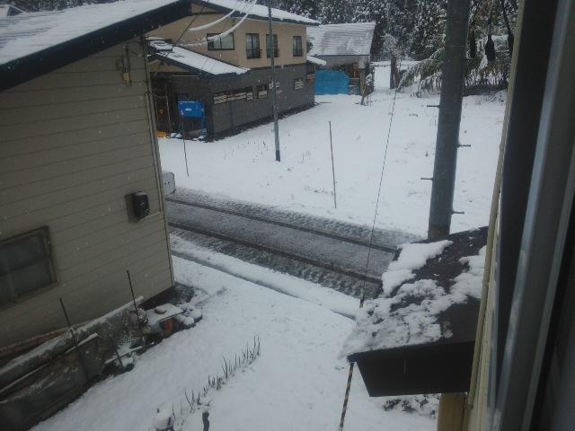 初除雪車出動